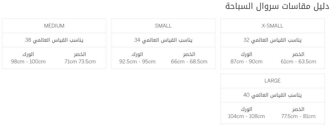 دليل قياسات victoriassecret pink علي سراويل السباحة بالسم